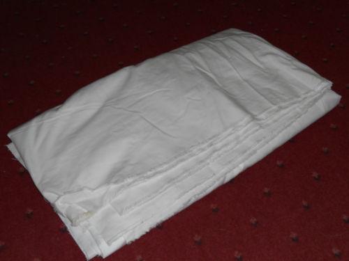 Plain White Cotton Fabric Ebay