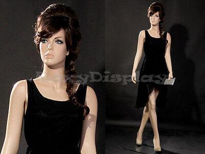 Female Fiberglass Mannequin With Pretty Face Elegant Pose Mz-zara6