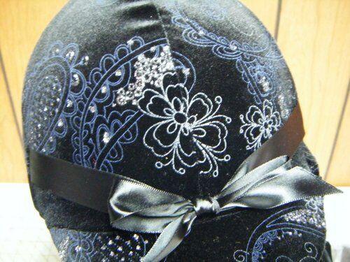 Hunt  Helmet Cover/Hunt Covers Velvet Glitter for Equine(horse)