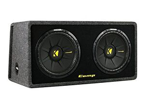 "Kicker 40DCWS122 loaded enclosure-DUAL 12"" CompS - NEW"