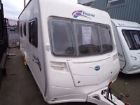2005 BAILEY VENDEE,FIXED BED L SHAPE LOUNGE ,AT BUDGET CARAVANS LIVERPOOL,PART EXCHANGE WELCOME