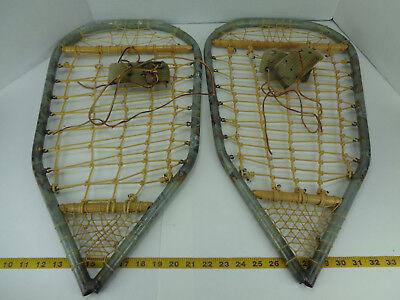 "Homemade? Handmade? Metal Snowshoes Snow Shoes 24-1/2"" L x 13-1/2"" W SKU B GS"