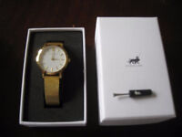 Larsson and Jennings Lugano 33mm gold plated watch with box and tool - Was £225