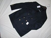 Authentic BRIONI Double Breasted Wool Blazer (Navy) size EU 54 / US 44S