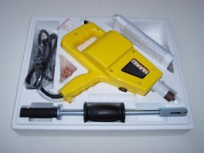 New Auto body Electric Stud Welder Gun Dent Repair Kit With Slide Hammer & Nails