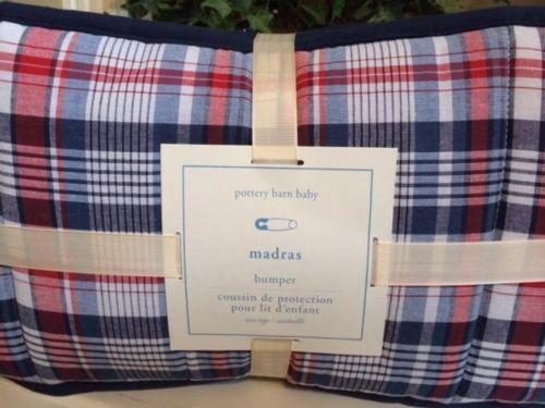 Pottery Barn Madras Crib Bedding Ebay