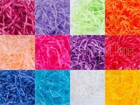 Shredded tissue paper only £11 per kg- job lot wholesale for sale - gifts packaging Christmas