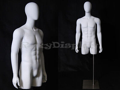 Egg Head Male Mannequin Torso With Nice Body Figure And Arms Md-tmweg