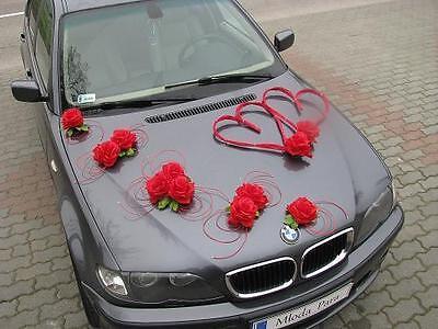 Best Wedding car decoration kit set And ribbon bows limousine flowers