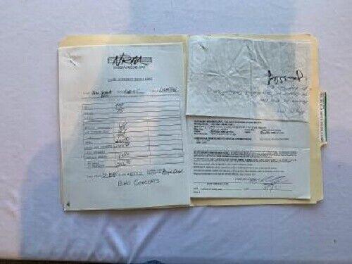 Bim Skala Bim Concert Contract 1995 Pittsburgh