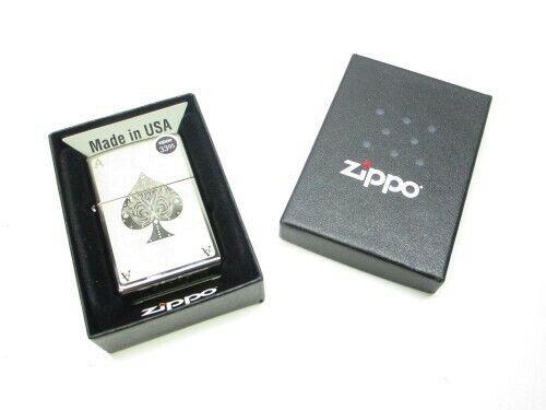 Zippo Black Ice Ace of Spades Filigree Windproof Lighter 283