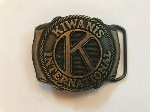 Kiwanis International BELT BUCKLE - Award Design Medals VINTAGE