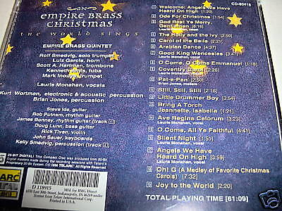 - Christmas EMPIRE BRASS-WORLD SINGS 20 BIT MAST MINT CD