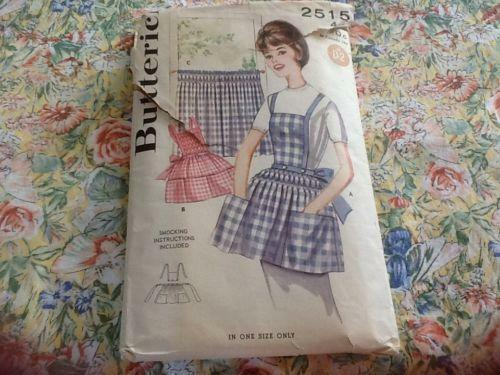 Vintage Smock Apron Pattern Ebay