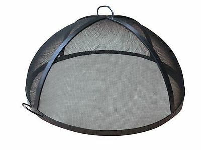 """60"""" Welded HYBRID Steel Lift Off Dome Fire Pit Safety Screen"""