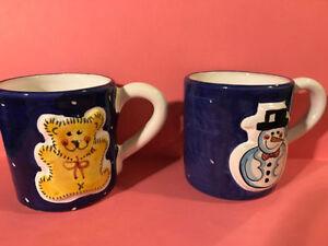 Set of 2 Starbucks Sberna Deruta Italy Christmas Holiday Mugs