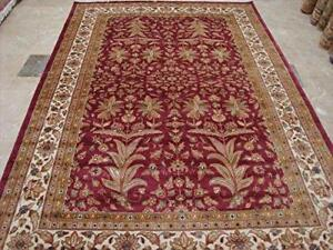 Wow Love Medallion Floral Oriental Area Rug Hand Knotted Wool Silk Carpet (9 x 6)'