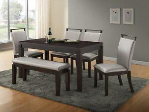 7pc. Dining Set   High End Furniture (T1105)