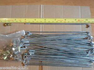 Motorcycle Wheel Spoke & Nipple Set 10 Gauge 157mm Long New