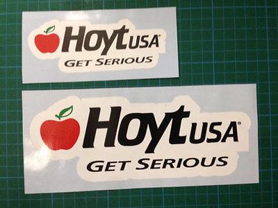 2 x Hoyt USA Get Serious Archery Stickers