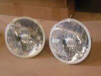 7 Inch Head Lights set of 2 Hella JEEP Wrangler JK without sidelight bulbholder