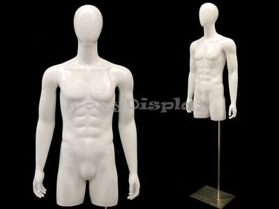 Egg Head Male Mannequin Torso With Nice Body Figure And Arms Md-tmwegs