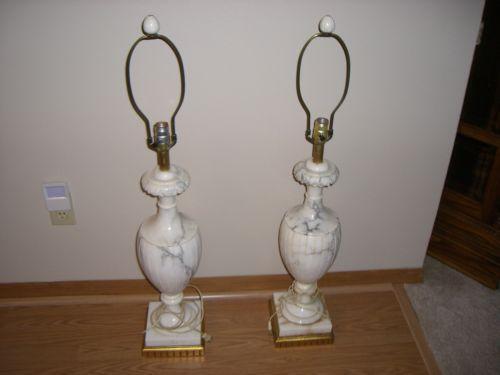 Italian Marble Lamp Ebay