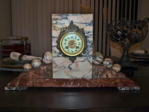 French Marble Clock Ebay