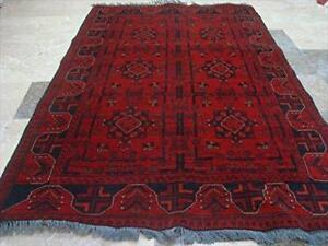 Afghan Khal Muhamadi Rectangle Area Rug Hand Knotted Wool Carpet (6.5 x 4.2)'