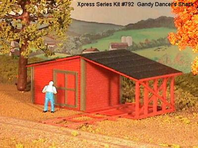AMERICAN MODEL BUILDERS 792 HO Grandy Dancer's Shack Railroad Wood Kit FREE SHIP