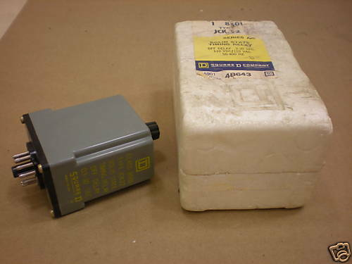 NIB SQUARE D 8501 JCK-22 8501-JCK22 SOLID STATE TIMING RELAY OFF DELAY  .3 - 30S