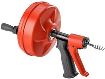 Ridgid Power Spin Plunger Snake Clean Plumbing Drain Augers Tool Sink Portable