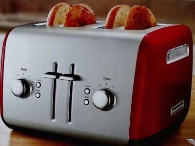 KitchenAid 4 Slice Bread and Bagel Toaster Empire Red KMT4115ER