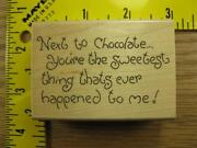Chocolate Rubber Stamp