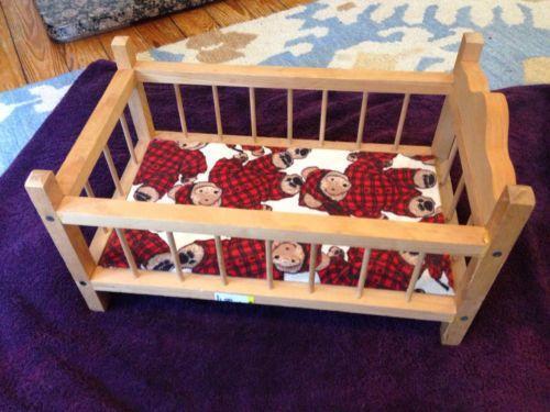 Vintage Wooden Doll Cradle Ebay