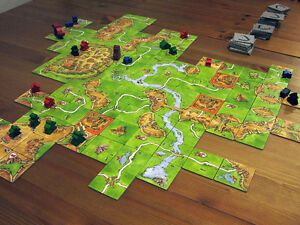 Carcassonne - Tile laying board game with The River expansion Kingston Kingston Area image 1