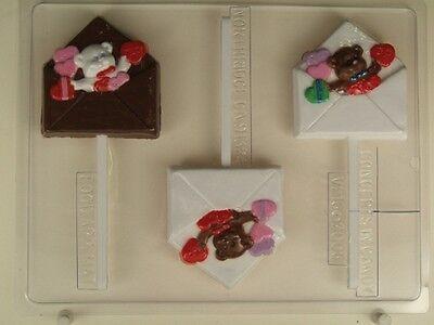 VALENTINE BEAR GRAM LOLLIPOP CHOCOLATE CANDY MOLD MOLDS PARTY FAVOR FAVORS