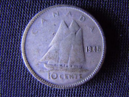 1945 Canadian Dime Ten Cents Ebay