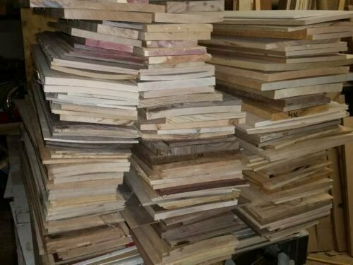 THIN HARDWOOD LUMBER Scraps WALNUT Red Oak MAPLE Cherry ASH Wood Crafts Scroll