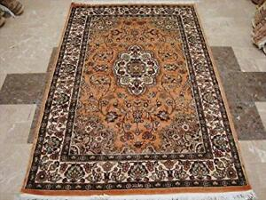 Floral Medallion Exclusive Designed Oriental Area Rugs Wool Silk Hand Knotted Carpet (6 x 4)'