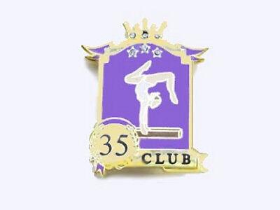 Club 35 Achievement Award Lapel Pin 3 CRYSTALS IN STARS