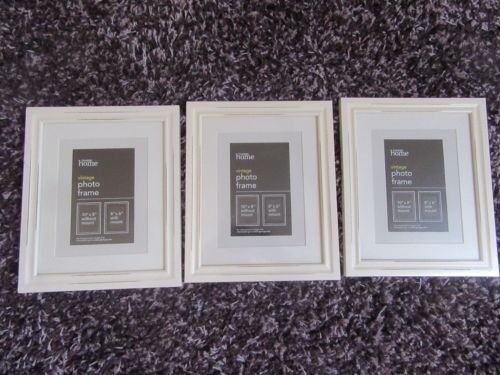 Vintage Shabby Chic Style Photopicture Frames New Cream Asda