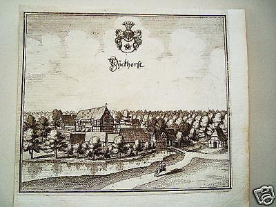 Dieckhorst b. Gifhorn  alter  Merian Kupferstich 1645