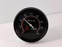 """Tachometer 3-3//8/""""//86mm,8K RPM,LED light programmable 043-TA-BC black//chrome"""