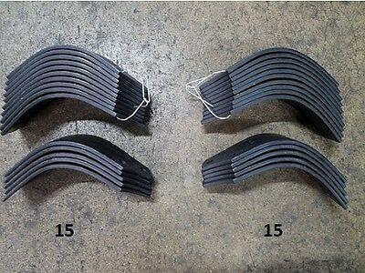 15 Each LH&RH Tiller Tines for John Deere 647A & 647B Tiller LVU14881 & LVU14482