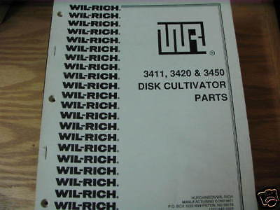 Wil-rich 3411 3420 3450 Disk Cultivator Parts Manual
