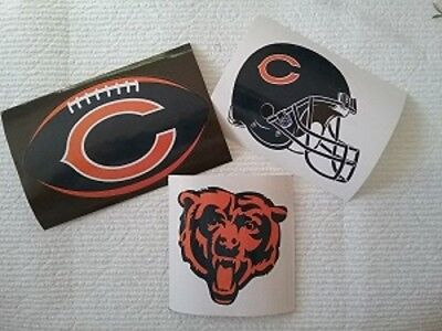 CHICAGO BEARS - BIRTHDAY PARTY FAVORS FOOTBALL STICKERS, HELMETS (3 EACH) ()