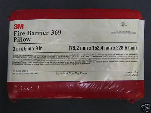 3M Fire Barrier Pillow #369 **NEW**