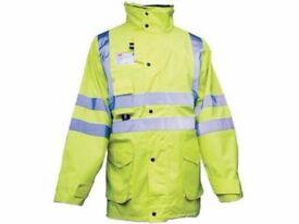 Hi Vis JSP LTD Waterproof Reflective 7 in 1 Work Jacket / Coat Breathable Yellow 2XL, 3XL, 4XL