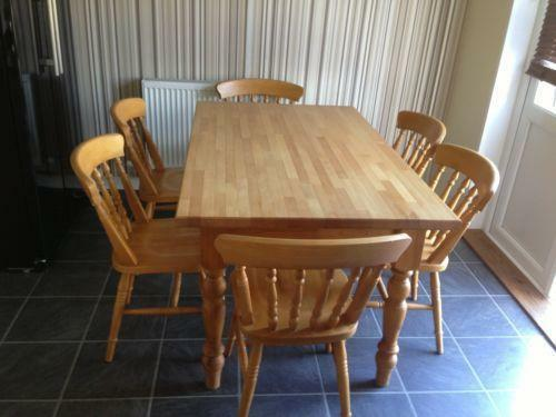 Used Pine Table And Chairs Ebay